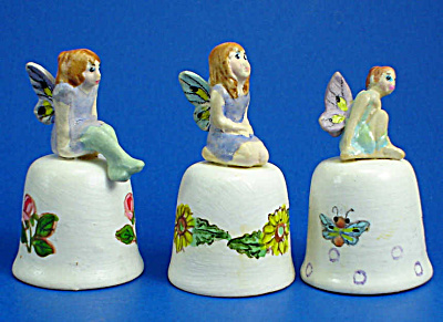 Hand Painted Ceramic Thimble - Fairy Trio (Image1)