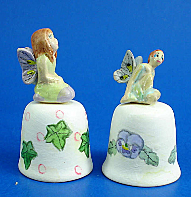 Hand Painted Ceramic Thimble - Fairy Pair (Image1)