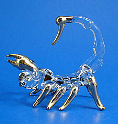 Blown Glass with Gold Trim Miniature Scorpion (Image1)
