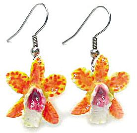 JE046 Orchid Flower Earrings (Image1)