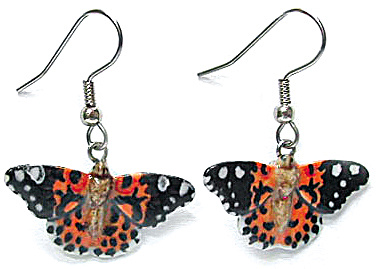 JE038 Painted Lady Butterfly Earrings (Image1)
