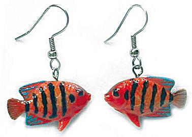 JE053 Flame Angelfish Earrings (Image1)
