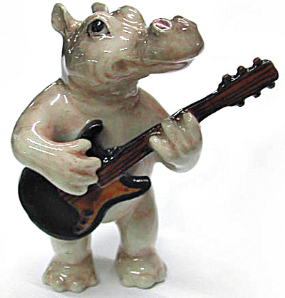 Mb005 Hippo With Guitar