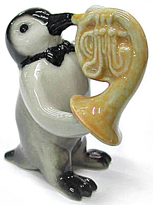 MB010 Penguin with French Horn (Image1)