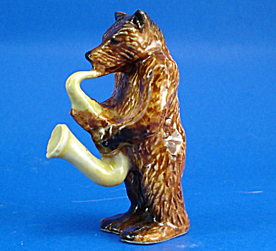 K14410 Brown Bear With Sax