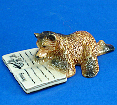 K1601 Brown Bear Cub with Book (Image1)