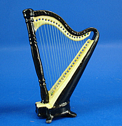 Porcelain Miniature Black Harp