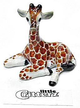 little Critterz LC405 Lying Giraffe Baby 'Aerial' (Image1)