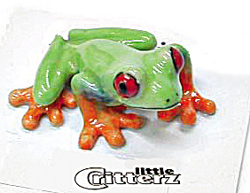 Little Critterz Lc301 Red Eye Tree Frog 'clinger'