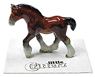 Little Critterz Lc113 Clydesdale Foal 'big Hoof'