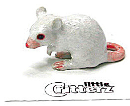 Little Critterz Lc123 White Mouse
