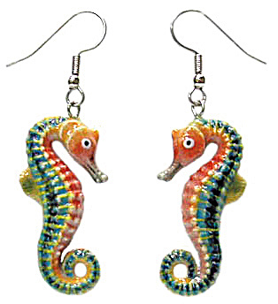 Je067 Seahorse Earrings