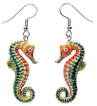 JE067 Seahorse Earrings (Image1)