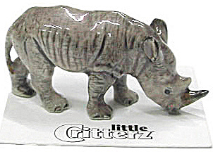 Little Critterz Lc430 White Rhino Calf Named Zulu