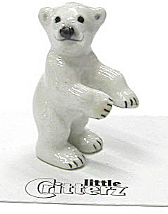 Little Critterz Lc433 Standing Polar Bear Cub