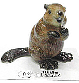 Little Critterz Lc133 Beaver Named Paddie