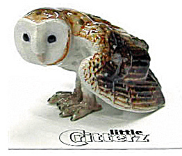 Little Critterz Lc558 Barn Owl Named Paleface