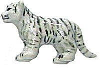 Retired Northern Rose Super Mini White Tiger Cub M030