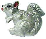 Retired Northern Rose Super Mini Grey Squirrel M016