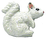 Retired Northern Rose Super Mini White Squirrel M017