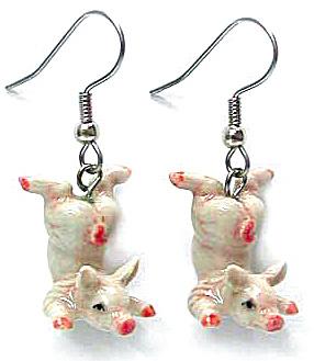 Northern Rose Pink Piglet Earrings (Image1)