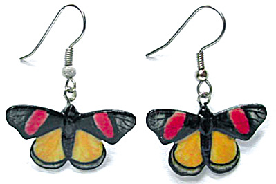 Northern Rose Painted Beauty Butterfly Earrings