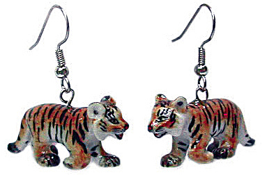 Northern Rose Tiger Cub Earrings