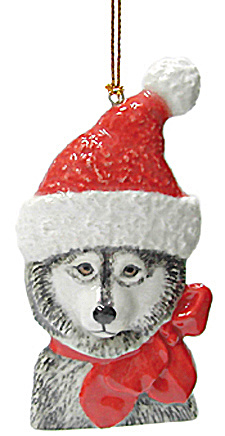 R356r Santa Dog Ornament