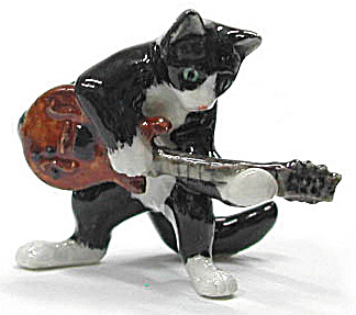 Mb034 Cat With Electric Guitar