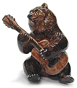 Mb028r Bear With Guitar