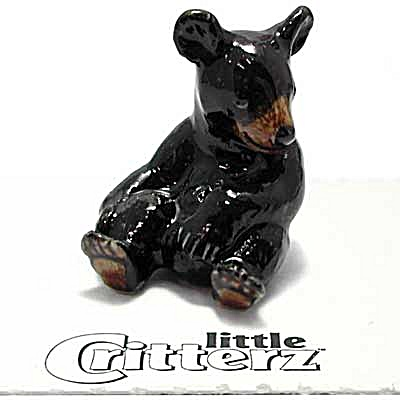 little Critterz LC153 Black Bear Cub Honey (Image1)