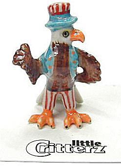 little Critterz LC631 Uncle Sam Bald Eagle (Image1)
