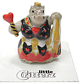 little Critterz LC648 Queen Of Hearts Hippo (Image1)