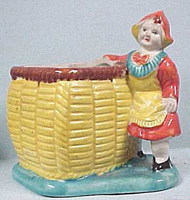 1930s/1940s Bisque Dutch Girl Planter
