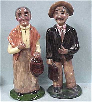Handmade Mexican Pottery Man & Woman (Image1)