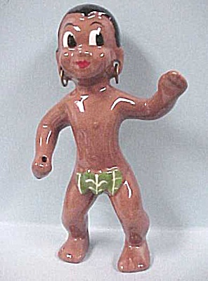 1950s California Pottery Hawaiian Man