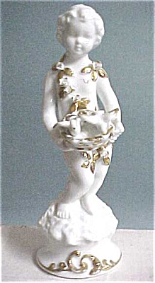 1960s/1970s Porcelain Boy With Birds (Image1)