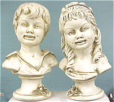 1962 Universal Statuary Boy And Girl Bust