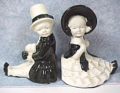 Japan Ceramic Boy And Girl Bookends