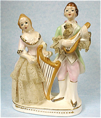 1940s/1950s Japan Ceramic Man And Lady