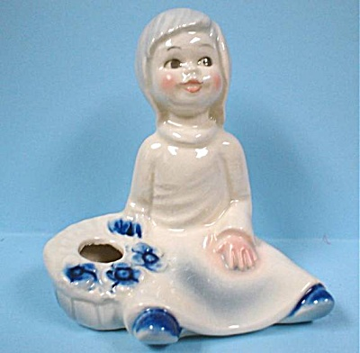 Goebel Sitting Girl Candle Holder