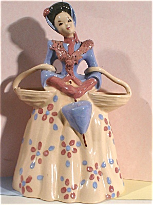 Kaye Of Hollywood Pottery Lady Planter