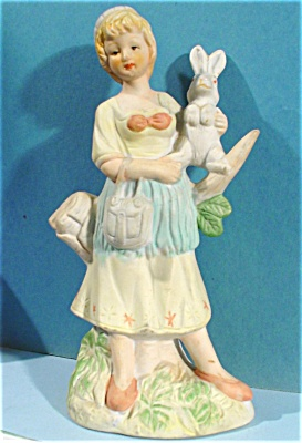Bone China Girl with Rabbit (Image1)