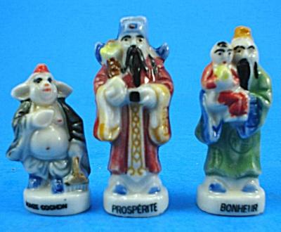 Porcelain Figurines, Prosperite, Bonheur, Iomze Cochon (Image1)