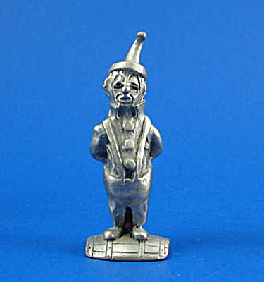 Pewter Miniature Clown With Club