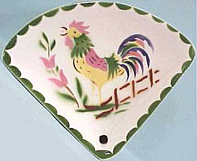 Cardinal China Rooster Spoon Rest