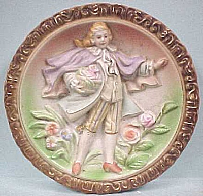 Vintage Bisque Wall Plaque