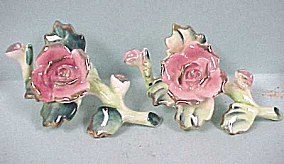 Four Rose on a Stem Candle Rings (Image1)