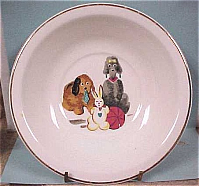 Bowls With Dog & Ark Decorations