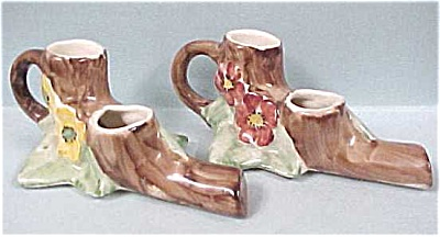 1950s Elbee Art Candle Holders? Pottery (Image1)